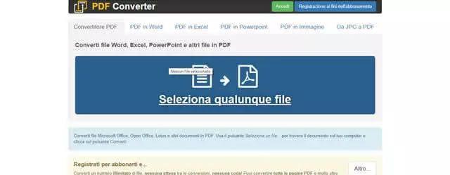 Convertire da Word a Pdf Online gratis