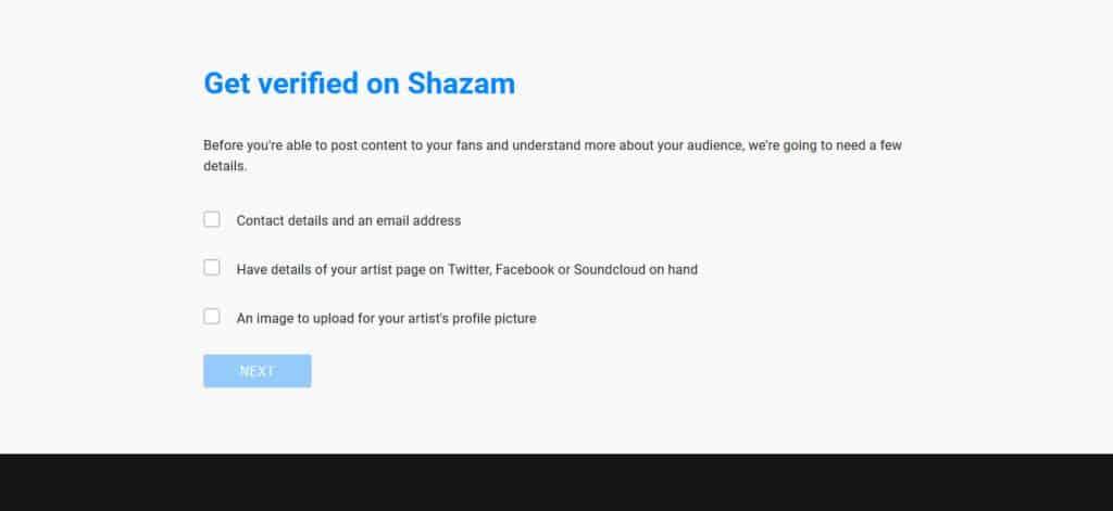 Come Verificare un Artista su Shazam