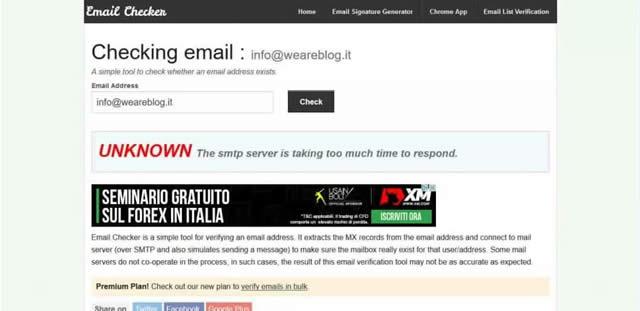 Come Verificare Indirizzi Email Esitenti e Validi