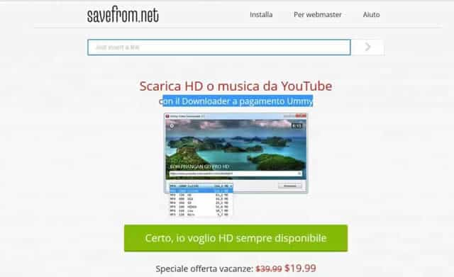 Come scaricare video da Youtube online