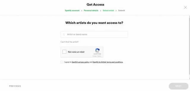 Come Verificare un Artista su Spotify