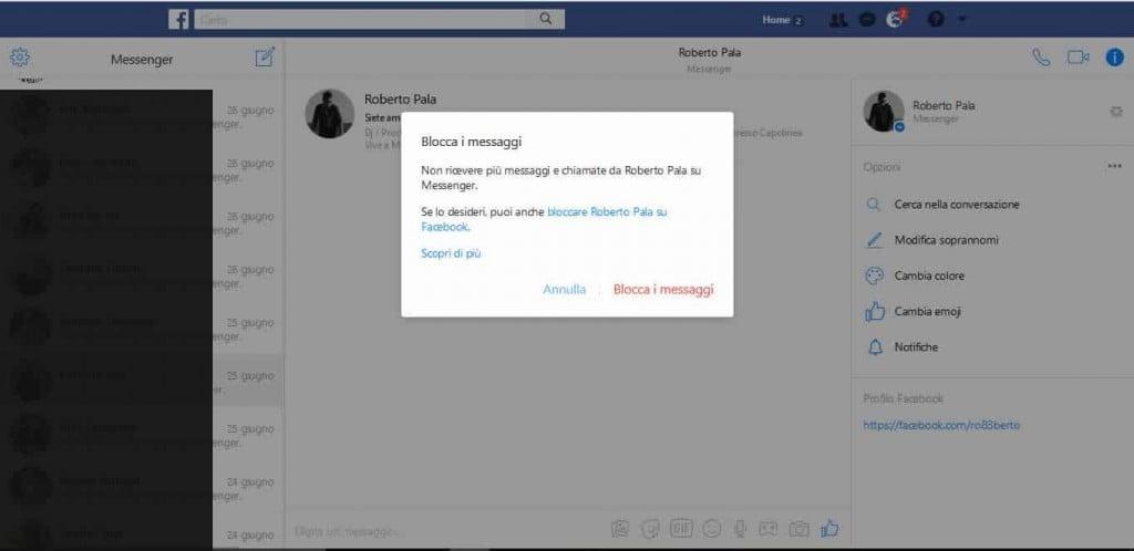 Come Bloccare Alcuni Utenti su Facebook Messenger