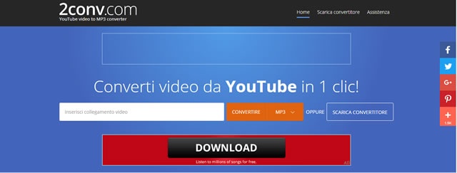 Scaricare musica da Youtube a Mp3