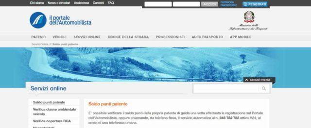 Come Visualizzare il Saldo Punti della Patente