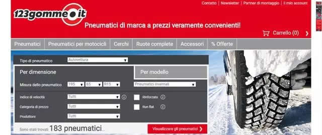 I Migliori Siti per Acquistare Pneumatici Online