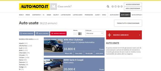I Migliori Siti di Auto Usate online