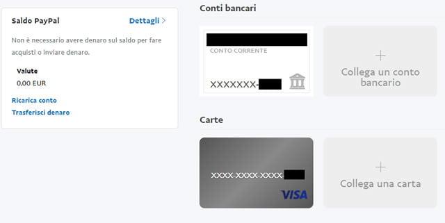 Collegare carta di credito a Paypal