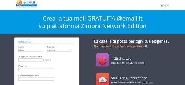I migliori servizi per creare un indirizzo email gratis