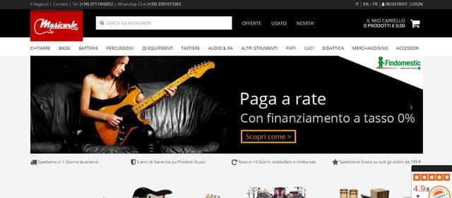 I migliori siti per l'acquisto di strumenti musicali