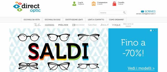 Acquistare Occhiali Online su Direct Optic a Prezzi Scontati