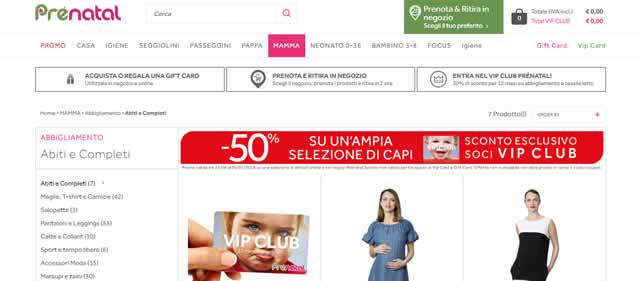 vestiti Premaman Online prenatal
