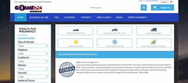 Comprare Pneumatici Online su Gommeh24 e Risparmiare