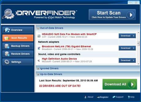 Driver Finder aggiornamento driver