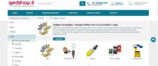 Gedshop gadget personalizzabili