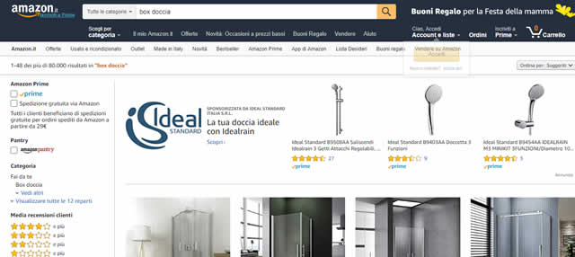 Amazon Box Doccia