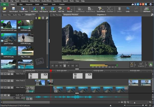 VideoPad video editing gratis