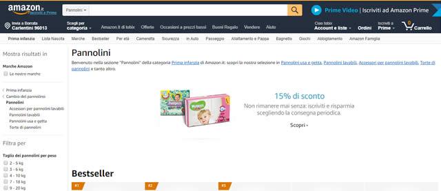 Amazon Pannolini