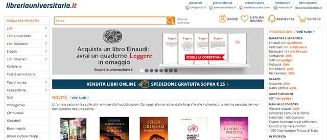 Libreria universitaria vendere libri online