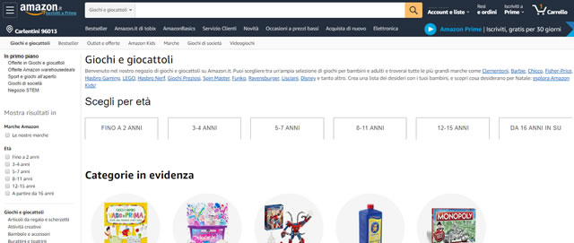 Amazon Giochi e Giocattoli