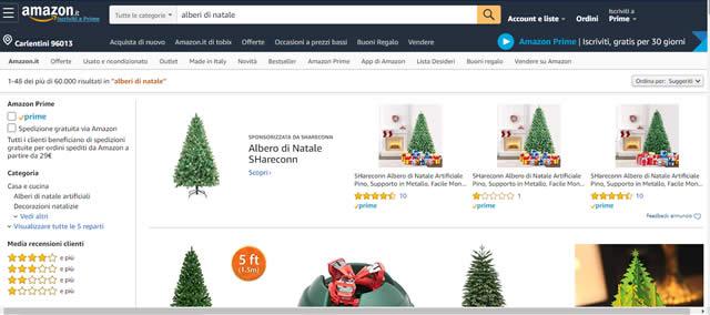 Amazon Alberi di natale