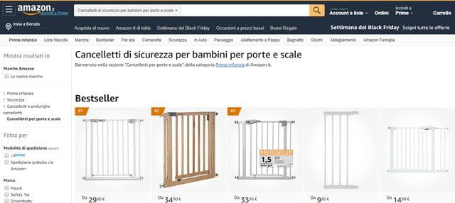 Amazon cancelletti per Bambini