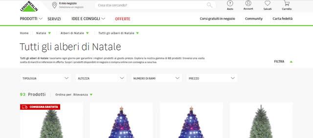 Leroy Merlin alberi di Natale
