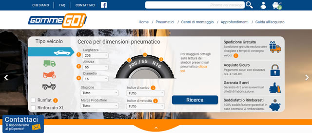 GommeGo Pneumatici Online