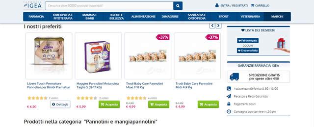 Farmacia Igea Pannolini Online