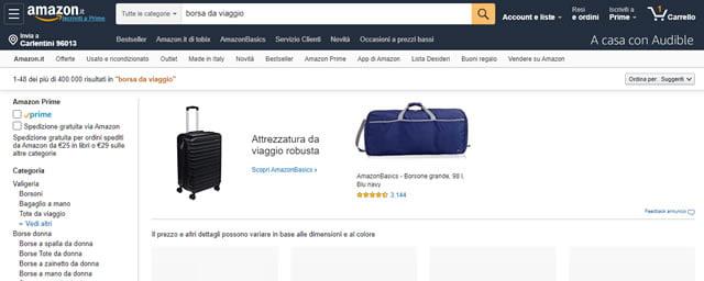 Amazon Borse da Viaggio