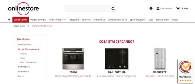 Online store Elettrodomestici