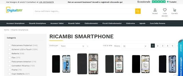 Digital Bay Ricambi smartphone