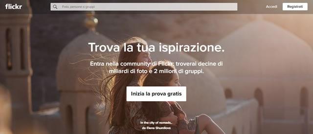 flickr vendi immagini e video