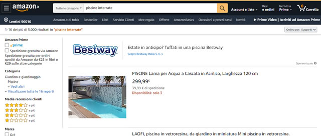 Amazon Piscine interrate