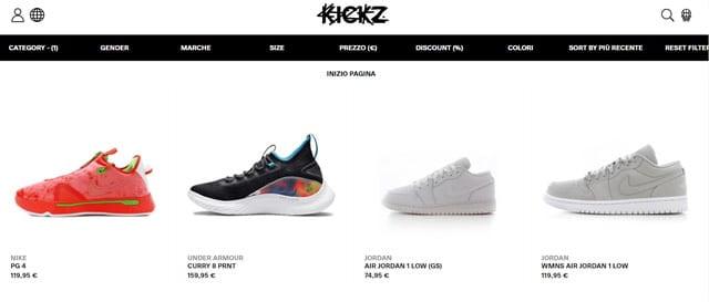 KICKZ siti di scarpe