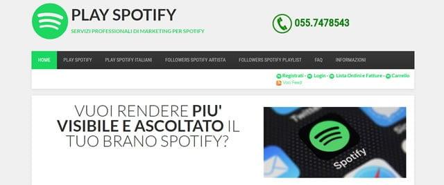 Play Spotify followers e play spotify