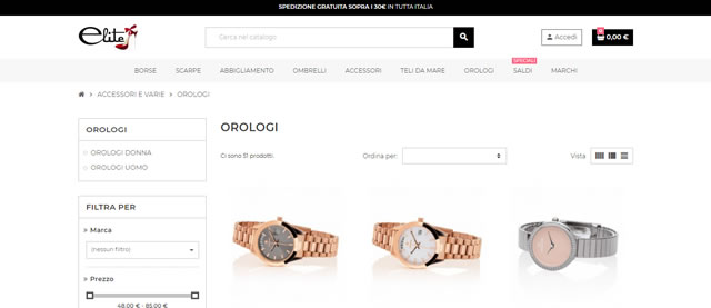 Elite Shop orologi uomo donna