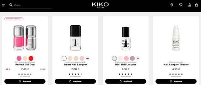 Kiko prodotti per le unghie