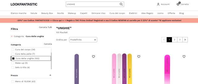 LookFantastic prodotti per unghie