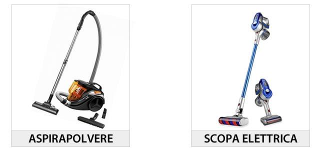 Differenza tra aspirapolvere e scopa elettrica