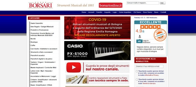Borsari online strumenti musicali