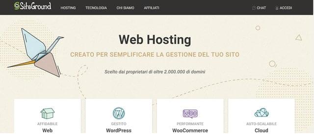 SiteGround migliori hosting