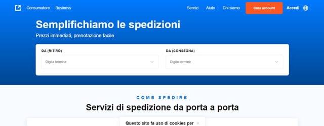 Eurosender spedire pacchi online