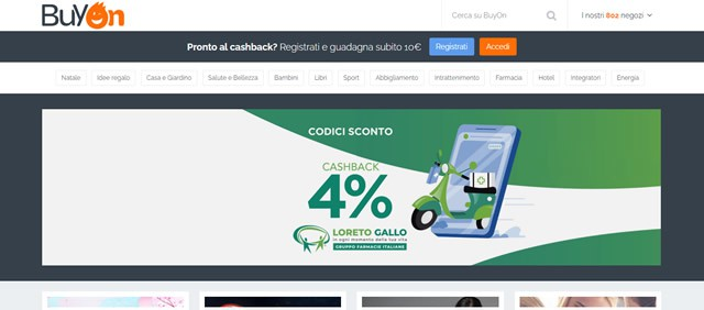 BuyOn siti online cashback