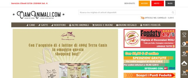 CIAM Animali cibo cani e gatto