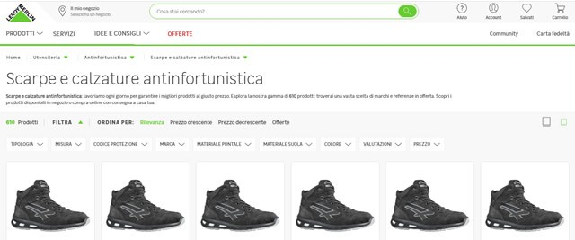 Leroy Merlin scarpe antinfortunistica