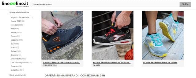 LineOnline scarpe antinfortunistica