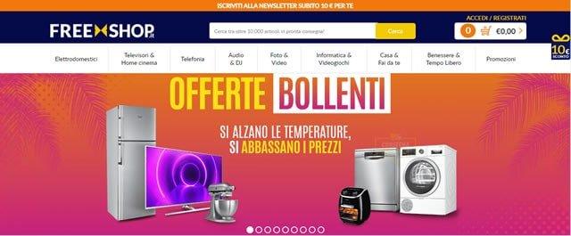Freeshop comprare lavatrici online