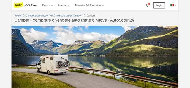autoscout24 Siti vendita camper
