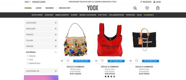 Yoox Borse Mare