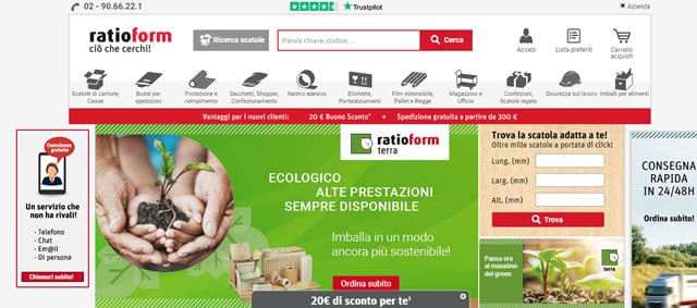 Ratioform imballaggi online